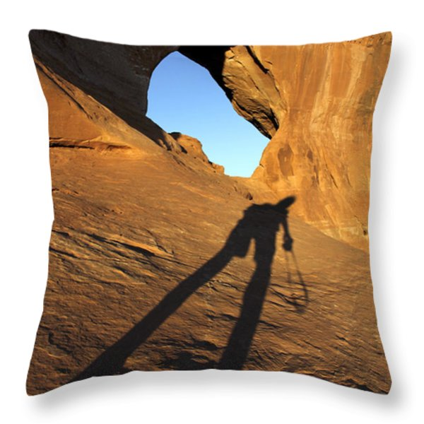 The Climb Throw Pillow by Mike McGlothlen