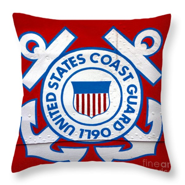 The Coast Guard Shield Throw Pillow by Olivier Le Queinec