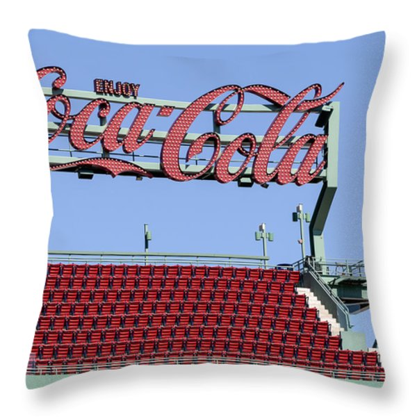 The Coca-Cola Corner Throw Pillow by Susan Candelario