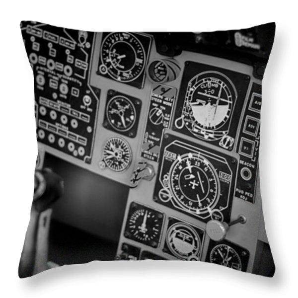 The Cockpit  Throw Pillow by Douglas Barnard
