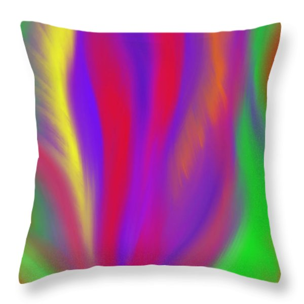 The Colors' Creation Throw Pillow by Daina White
