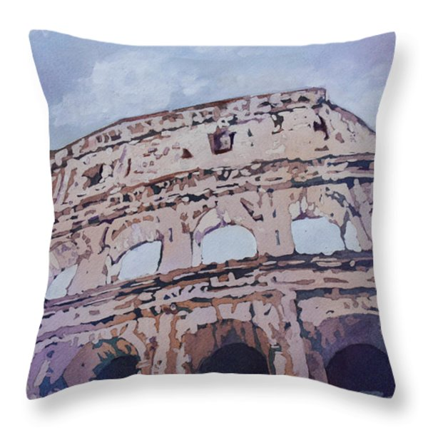 The Colossus  Throw Pillow by Jenny Armitage