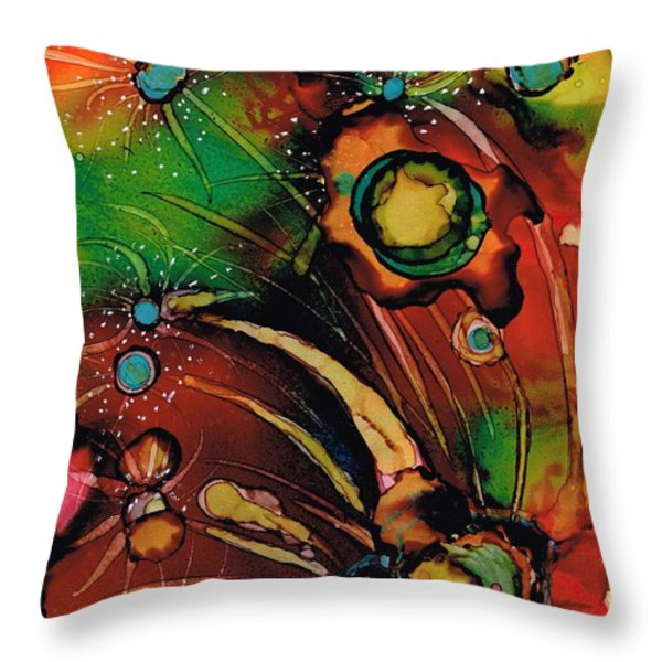 The Colours Of My Mind.. Throw Pillow by Jolanta Anna Karolska