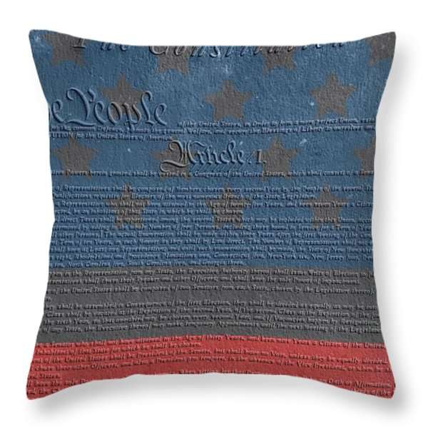 The Constitution Of The United States Of America Throw Pillow by Dan Sproul