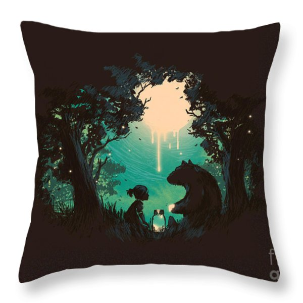 The Conversationalist Throw Pillow by Budi Kwan