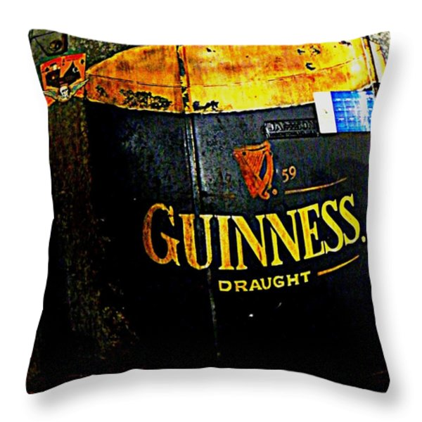 The Cooler Throw Pillow by Chris Berry