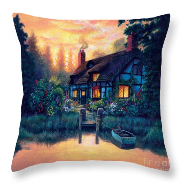 The Cottage Throw Pillow by MGL Studio - Chris Hiett