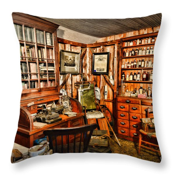 The Country Doctor Throw Pillow by Paul Ward