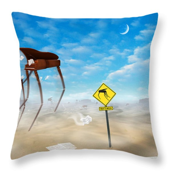 The Crossing Throw Pillow by Mike McGlothlen