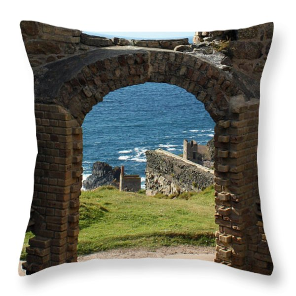 The Crowns of Cornwall Throw Pillow by Terri  Waters