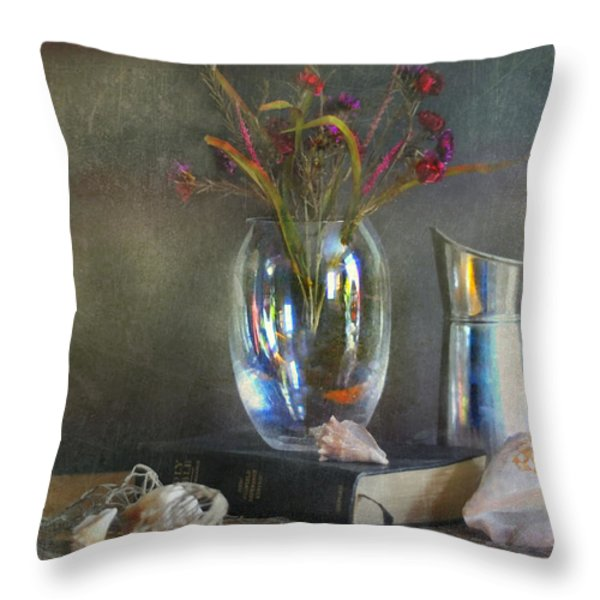 The Crystal Vase Throw Pillow by Diana Angstadt