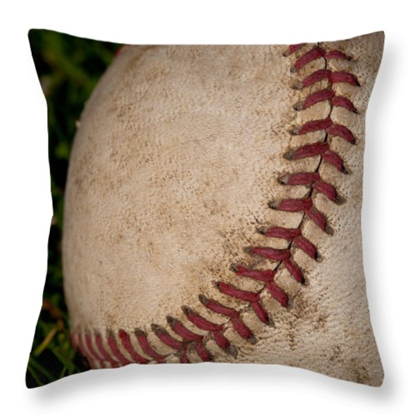 The Curveball Throw Pillow by David Patterson