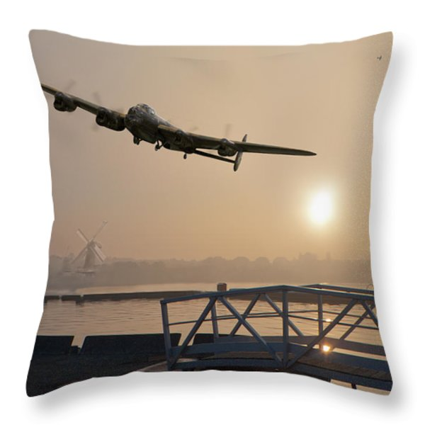 The Dambusters - Last One Home Throw Pillow by Gary Eason