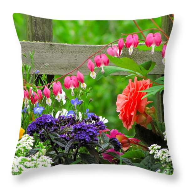 The Dance Of Spring Throw Pillow by Sean Griffin