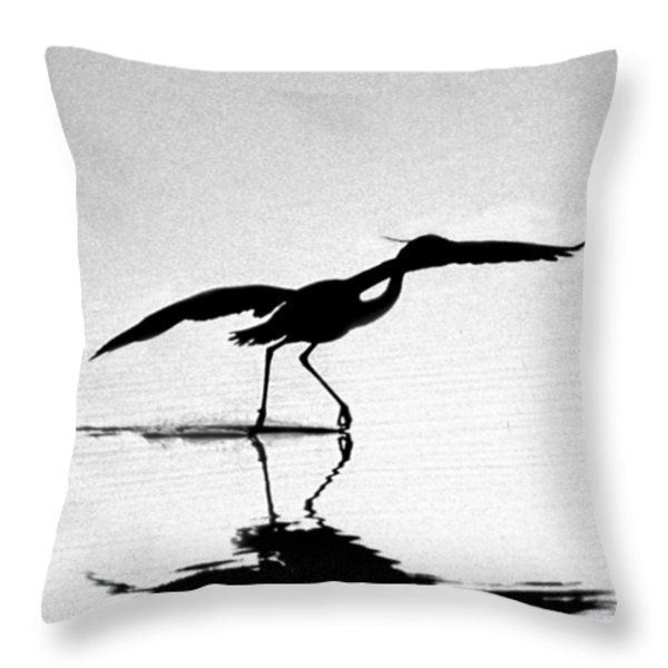 THE DANCE Throw Pillow by Skip Willits