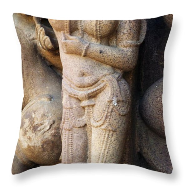 The Dancer in Stone Cropped Throw Pillow by C H Apperson