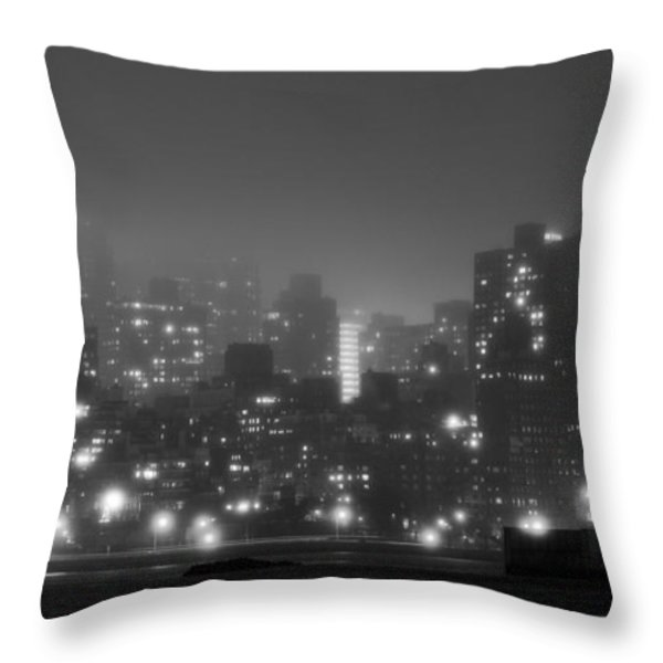 The Dark And Stormy Night Throw Pillow by JC Findley