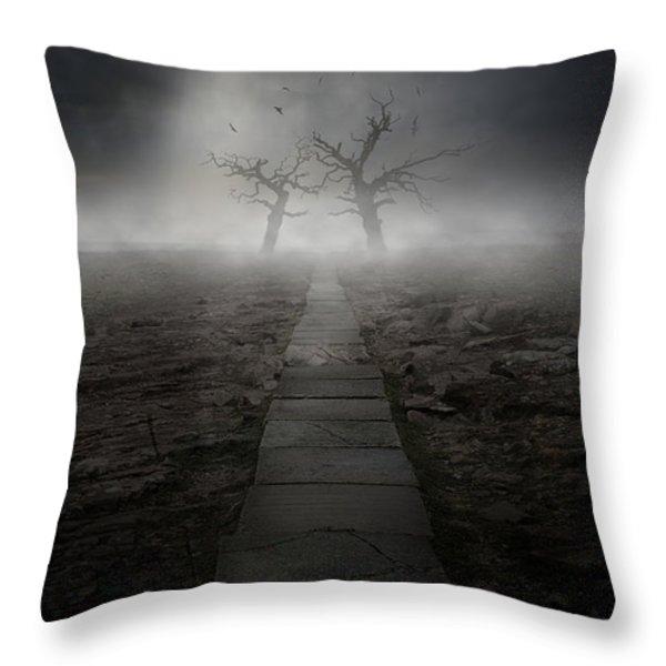 The Dark Land Throw Pillow by Jaroslaw Blaminsky