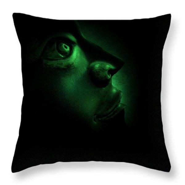 The Darkest Hour Cyan Throw Pillow by David Dehner