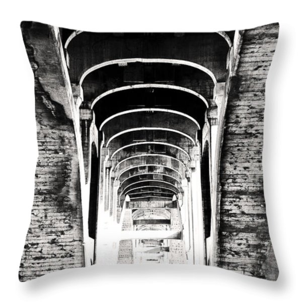 The Darkness Retreats Throw Pillow by Matthew Blum