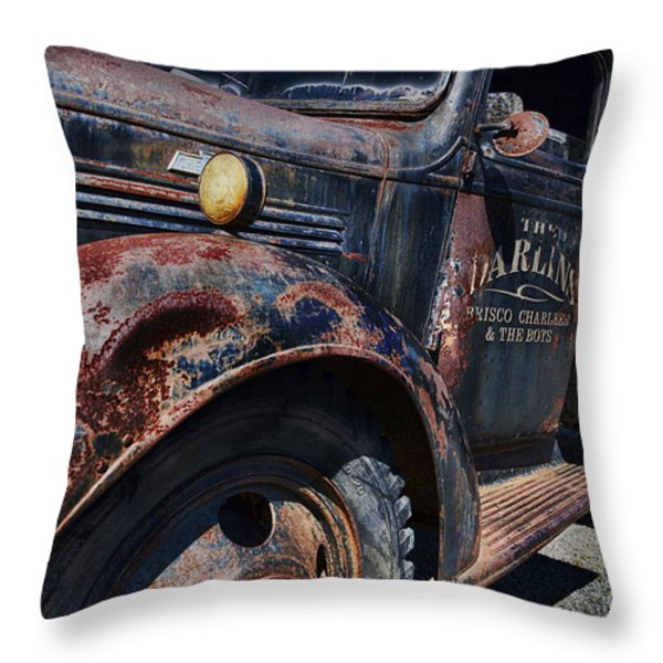 The Darlins Truck Throw Pillow by David Arment