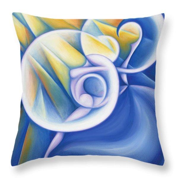 The Dawning Of Infinity Throw Pillow by Tiffany Davis-Rustam