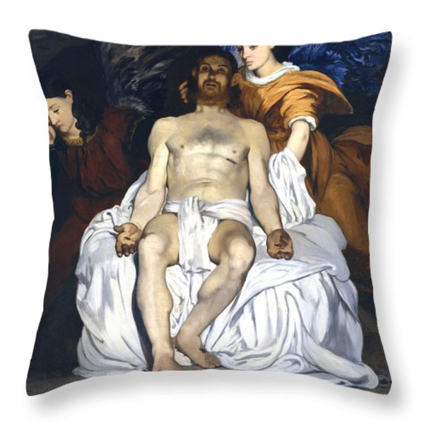 The Dead Christ With Angels Throw Pillow by Edouard Manet