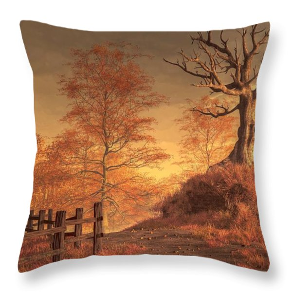 The Dead Tree Throw Pillow by Daniel Eskridge