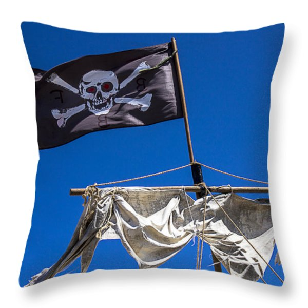 The death flag Throw Pillow by Garry Gay