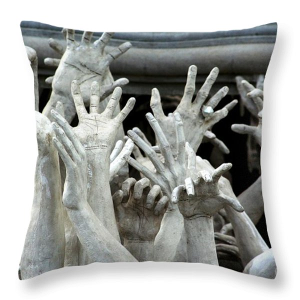 The Descension Of The Consumer 2 Throw Pillow by Nola Lee Kelsey