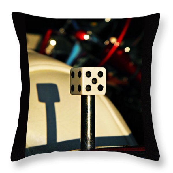 The Die Throw Pillow by Chris Berry