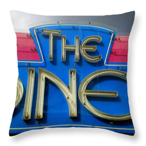 The Diner Throw Pillow by Randall Weidner