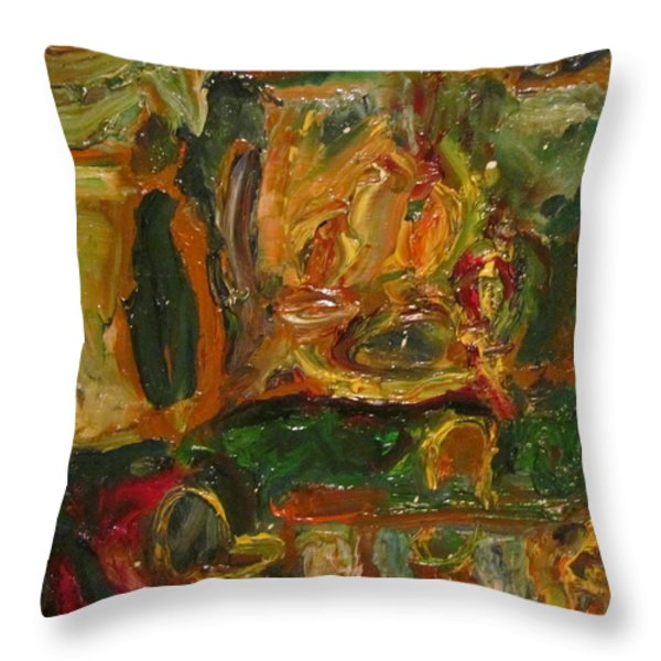 The Dining Room Throw Pillow by Shea Holliman