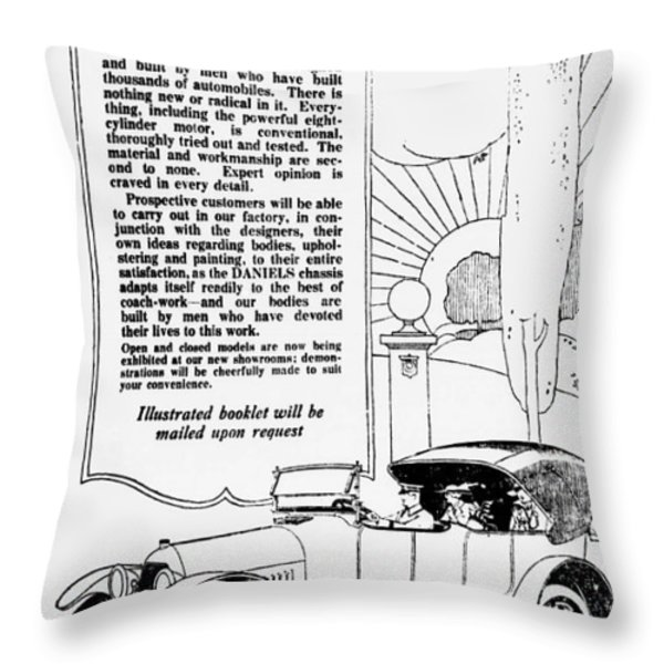 The Distinguished Car Of  1916 Throw Pillow by Daniel Hagerman