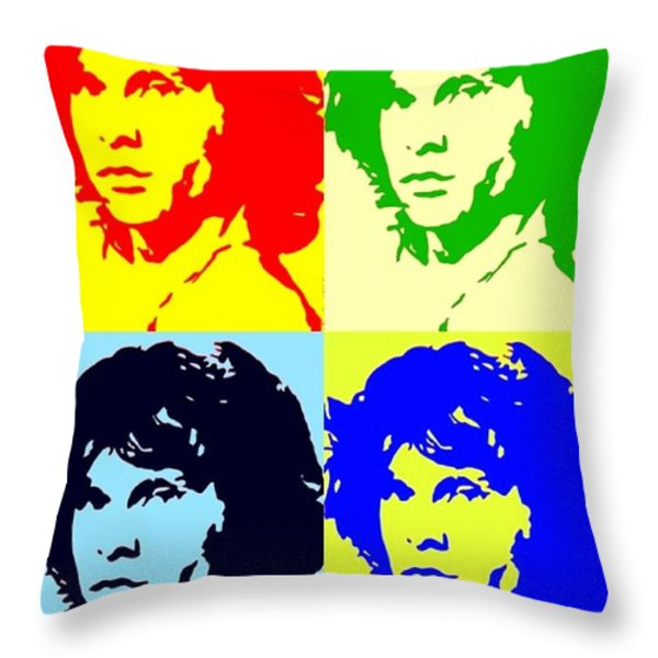 THE DOORS AND JIMMY Throw Pillow by Robert Margetts