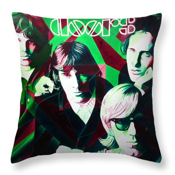 The Doors Throw Pillow by Joshua Morton