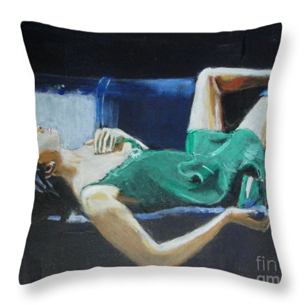 The Dreamer Throw Pillow by Judy Kay
