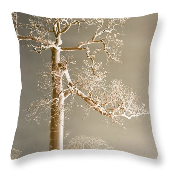 The Dreaming Tree Throw Pillow by Holly Kempe
