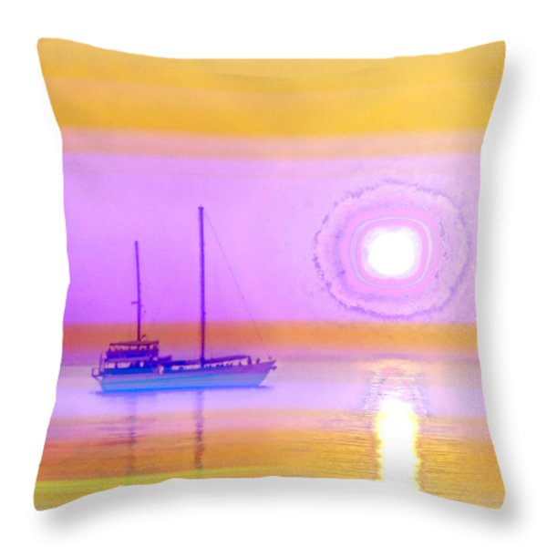 The Drifters Dream Throw Pillow by Holly Kempe