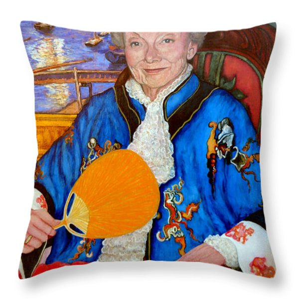 The Duchess Throw Pillow by Tom Roderick