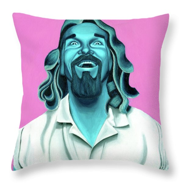 The Dude Throw Pillow by Ellen Patton
