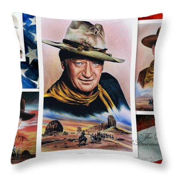 The Duke American Legend Throw Pillow by Andrew Read