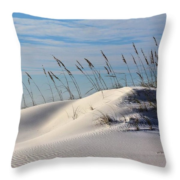 The Dunes of Destin Throw Pillow by JC Findley