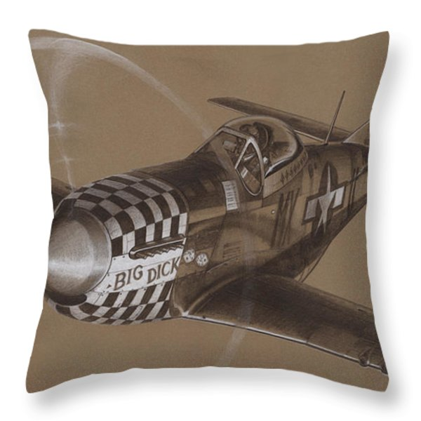 The Duxford Boys Drawing Throw Pillow by Wade Meyers