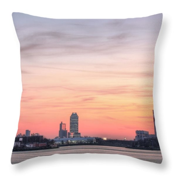The Edge Of Queens Throw Pillow by JC Findley