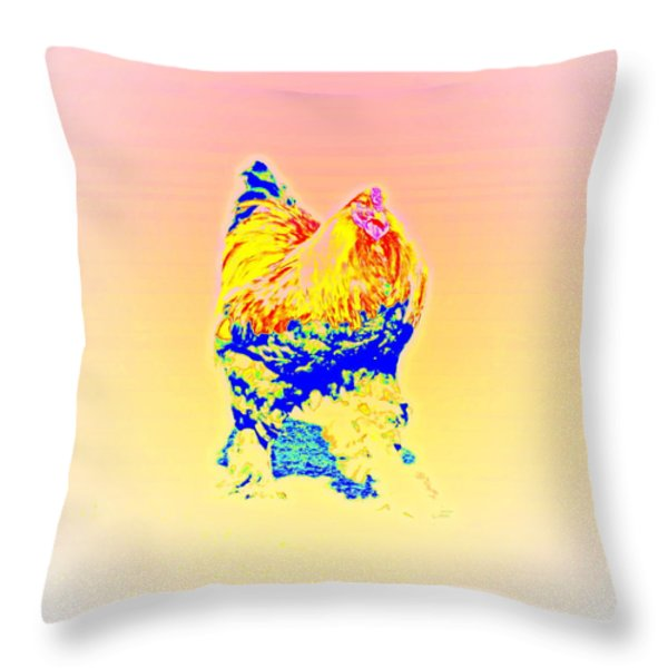 The Egg Warmer Throw Pillow by Hilde Widerberg