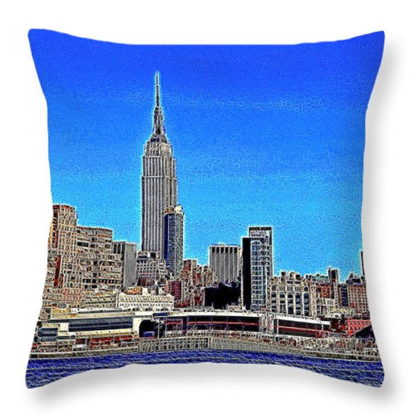 The Empire State Building and The New York Skyline 20130430 Throw Pillow by Wingsdomain Art and Photography