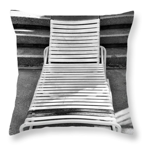 THE EMPTY CHAISE Palm Springs Throw Pillow by William Dey