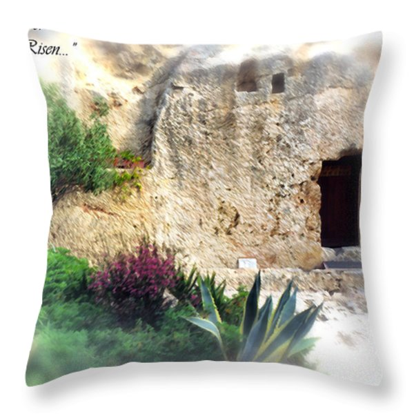 The Empty Tomb Throw Pillow by Thomas R Fletcher