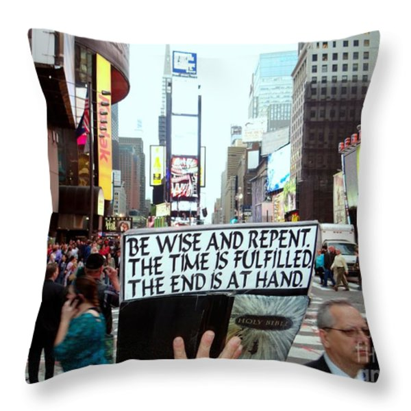 The End Is At Hand Throw Pillow by Ed Weidman